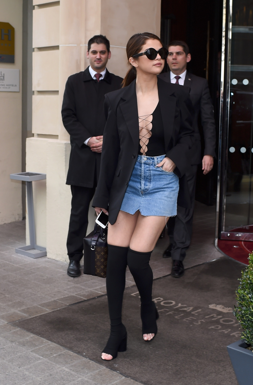 Are Selena gomez upskirt