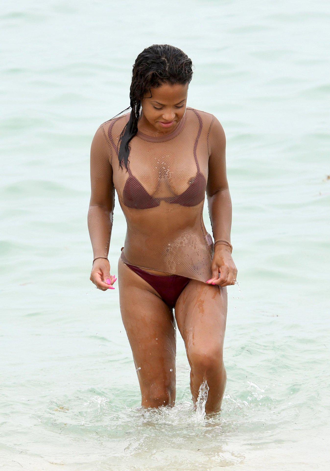 Celebrity bikini oops