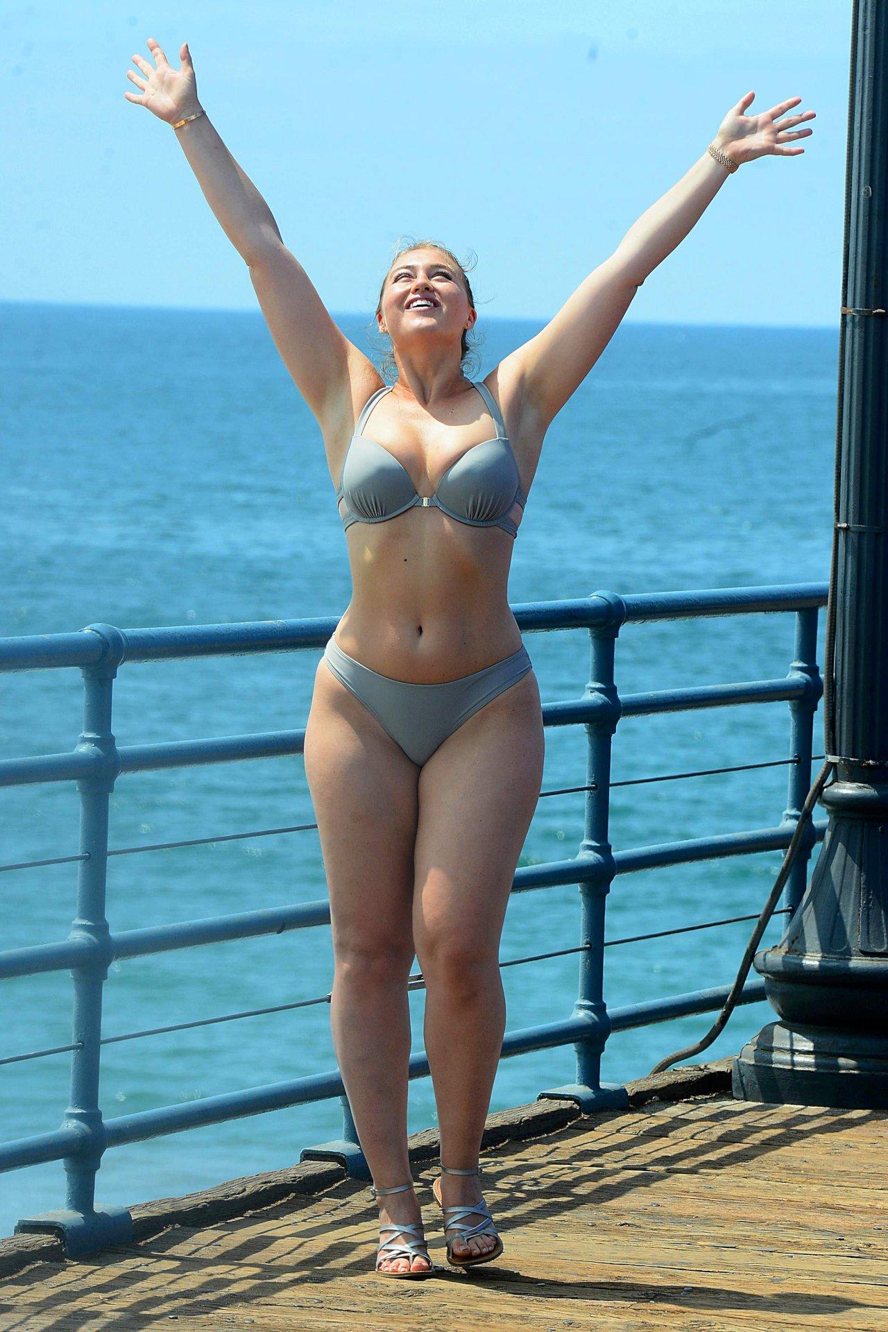 Iskra Lawrence - Bikini Photoshoot Candids in Santa Monica - Hot Celebs Home
