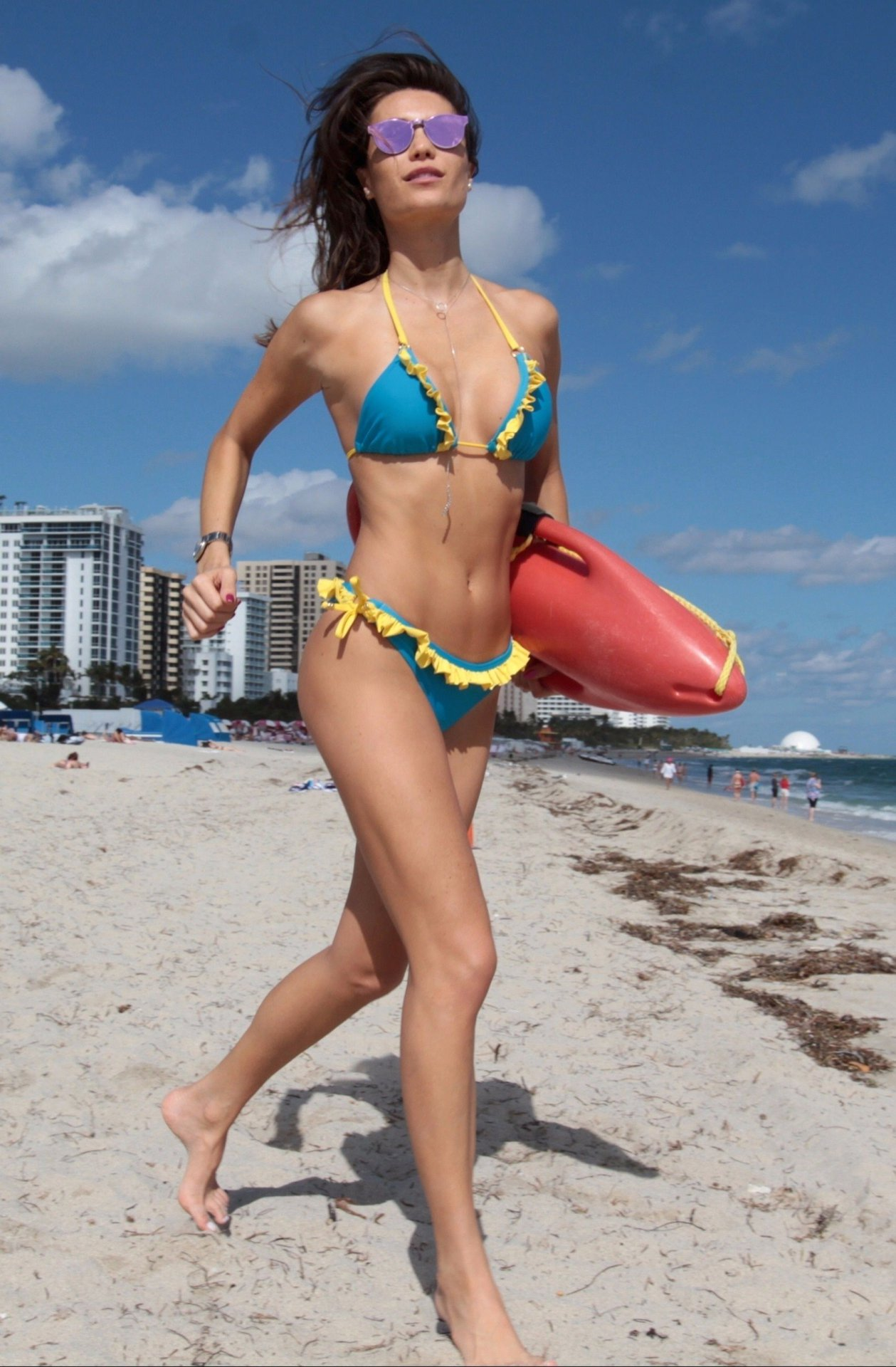 Beach topless miley cyrus